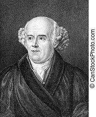 Samuel Hahnemann 1755-1843 on engraving from 1859 German...