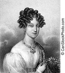 Marie Louise, Duchess of Parma (1791-1847) on engraving from...