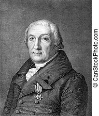 Christoph Ammon 1766-1850 on engraving from 1859 German...