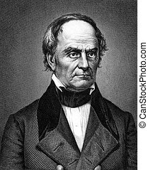 Daniel Webster 1782-1852 on engraving from 1859 Leading...