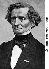 Hector Berlioz 1803-1869 on engraving from 1908 French...