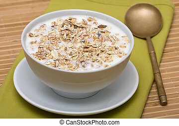 Delicious and healthy granola or muesli
