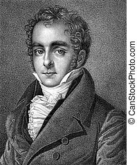Casimir Pierre Perier (1777-1832) on engraving from 1859....