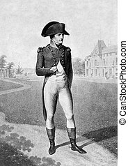 Napoleon I - Napoleon Bonaparte (1769-1821) on antique print...