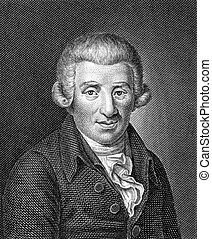 Johann Wilhelm Ludwig Gleim 1719-1803 on engraving from 1859...
