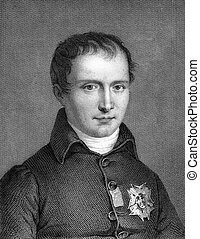 Joseph Bonaparte (1768-1844) on engraving from 1859. Elder...