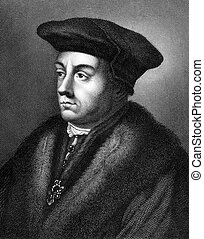 Thomas Cromwell (1485-1540) on engraving from 1859. English...