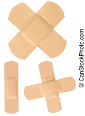 Bandages - Isolated bandages set isolated on white...