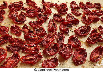 sun-dried tomatoes with olive oil and spices