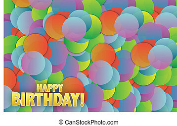 Happy birthday colorful card background illustration