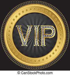 Vip golden label, vector