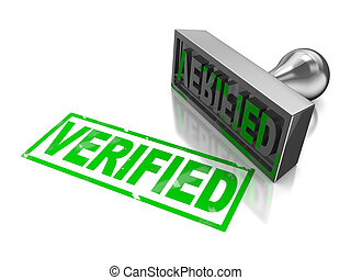 Stamp verified - Stamp verifie with green text isolated on a...