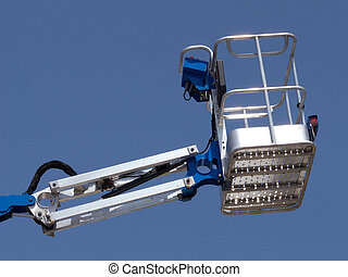 Cherry Picker - Brand new cherry picker basket extended up...