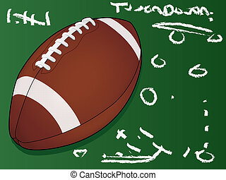 Highly detailed vector football - American Football...