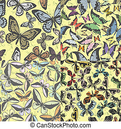 Set of seamless pattern with butter