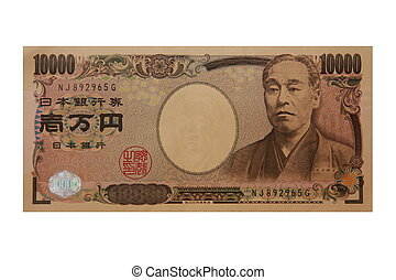 10000 Yen Bill - Photo of 10000 japanese yen bill.