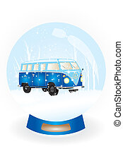 Snow globe with bulli van