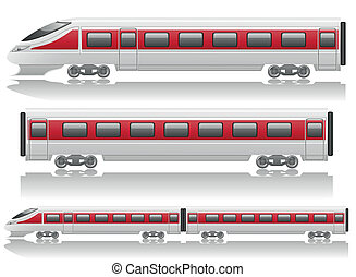 speed train locomotive and wagon vector illustration...