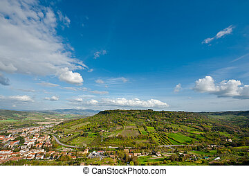 Orvieto - View of Valley of Vineyards from Medieval Castle...