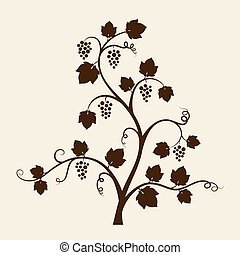 Grape vine silhouette Vector illustration
