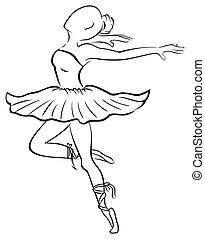 Dancing woman - Illustration of young attractive dancer in...