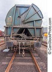 Railcar - Empty railcar in the port of Antwerp, Belgium