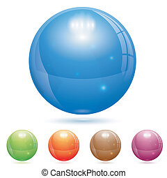 3D Glass Ball - 3D Glass Marble Ball in Different Colors,...