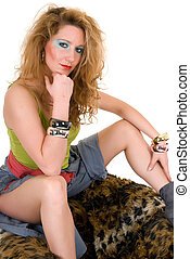 Attractive femme fatale - Attractive young sexy femme...