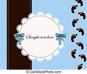 Beautiful card for baby boy