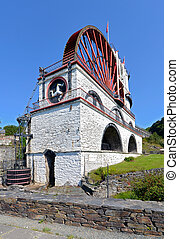 The Great Laxey Wheel front view - Isle of Man - The Great...