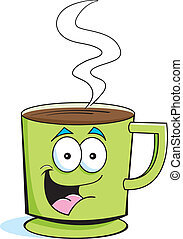 Cup of Coffee - Cartoon illustration of a cup of coffee