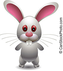 cute rabbit - vector illustration of cute rabbit