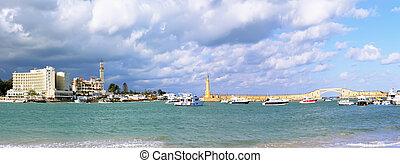 Alexandria, seafront. Egypt - Alexandria, seafront view ....