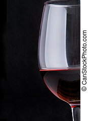 beautiful glass of wine - Close up. Beautiful glass of wine