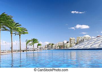 cidade, vista,  Alexandria, urbano