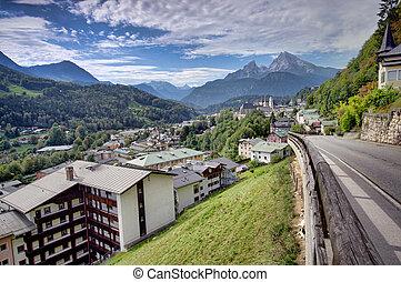 Berchtesgaden mountain resort - Berchtesgaden landscape and...