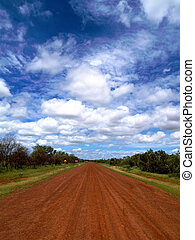 Red dirt road -