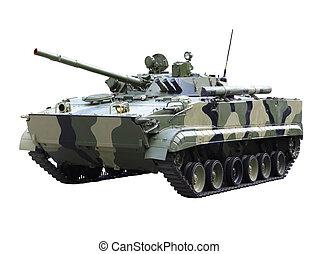 Militaru technics - tank. Isolated - Militaru technics-...