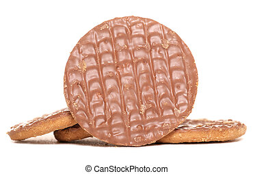 Chocolate digestive biscuits studio cutout