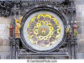 Astronomical clock on Staromestska Square, Prague - Fragment...