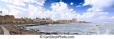 Alexandria, seafront Egypt - Alexandria, seafront view...