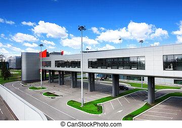 Modern international airport terminal. Int lines.