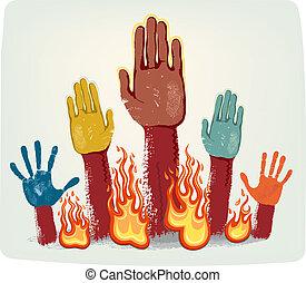 Voting fire hands
