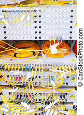 Telecommunication equipment of network cables. -...