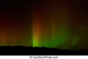 Northern Lights - The Northern Lights over Tory Hill,...