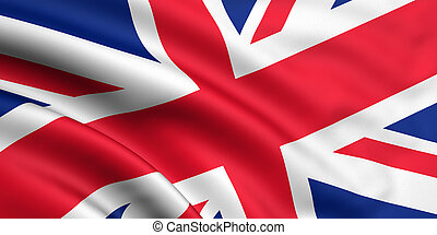 Great Britain Flag - 3d rendered flag of Great Britain