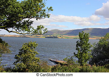 view over Loch Leven Perthshire Scotland