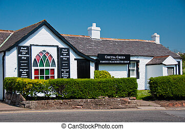 Gretna Green Blacksmith Shop, Scotland - Historic landmark...
