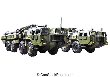 Militaru technics. Isolated over whita background.