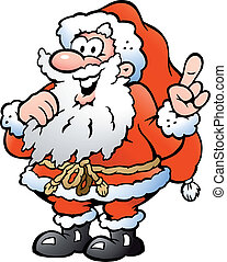 Happy Santa Pointing
